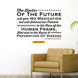 The Doctor of the Future (HER), Thomas Edison, HER VERSION, 0146, Chiropractor Wall Decal