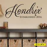 Custom Family Name Wall Decal, 0168, Family Name Wall Art, Customized
