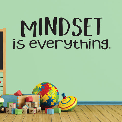 Mindset Is Everything, Wall Decal, 0237, Motivational Quote