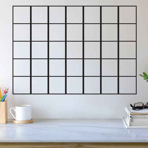 Grid Decal, 0238, Calendar Grid, Planner Grid, Sticker