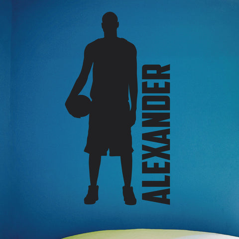 Custom Name Boys Basketball Wall Decal, 0270, Personalized, Basketball Graphics