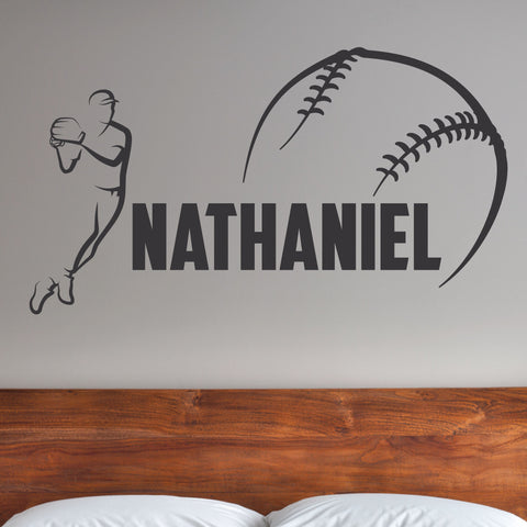 Custom Baseball Wall Decal, 0280, Pitching, Pitch, Throwing, Wall Graphic
