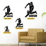 Baseball Custom Name Wall Decal, 0282, Personalized Boys Baseball Wall Decal, Fielder