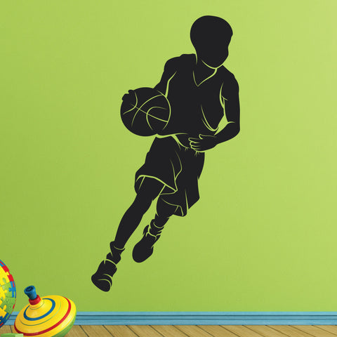 Boys Basketball Wall Sticker, 0289, Boys Basketball Player Wall Decal