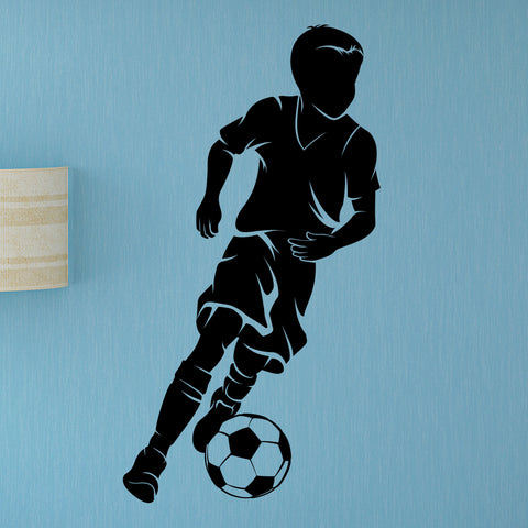 Boys Soccer Wall Sticker, 0293, Dribbling, Futbol, Wall Decal