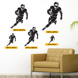 Football Running Back Wall Decal, 0301, Running Back Wall Sticker