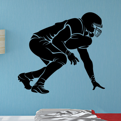 Football Lineman Wall Decal, 0303, Offensive Lineman, Defensive Lineman
