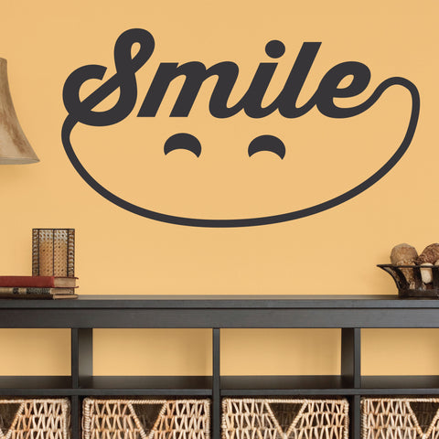 Smile Wall Decal, 0340, Dental Office Wall Decal