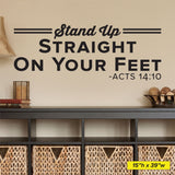 Stand Up Straight On Your Feet-Acts 14:10, 0407, Chiropractor Wall Decal