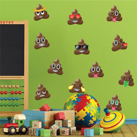 Poop Emoji Wall Stickers