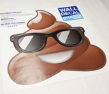 poop emoji with sunglasses full print