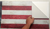 American Flag Vintage Wall Decal Sticker - 0451