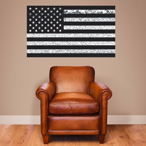"American Flag Distorted Wall Decal Sticker - 0459 - 28""h x 48""w"