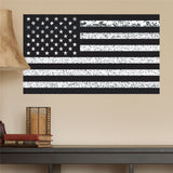 "American Flag Distorted Wall Decal Sticker - 0460- 14""h x 24""w"