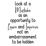 Look at a Mistake as an opportunity - 0466 - School Wall Sticker - Teacher Wall Art