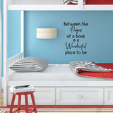 Between the pages of a book is a wonderful place to be - 0468 - Classroom Decor, Back to Teaching