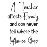 A Teacher affects eternity - 0472 - Classroom Decor - Wall Decor - Back to school - Classroom Decal