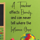 A teacher affects eternity and can never tell where the influence stops
