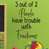 math teacher wall decal