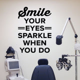 optometrist wall cling decal