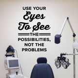optometrist wall sticker