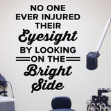 optometrist wall art - bright side eyesight