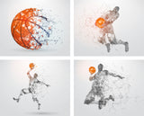 Basketball Wall Art, Basketball Player wall decals