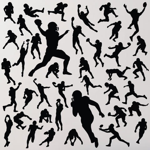 Qty 40, Football Wall Stickers for any smooth wall