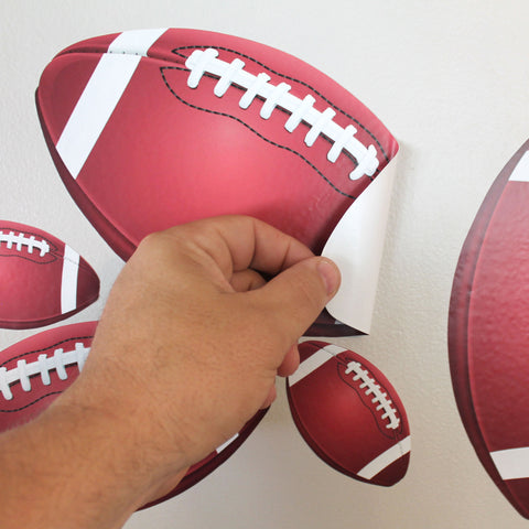Football Wall Stickers, Qty 23, Football Peel and Stick Wall Graphics, 0566