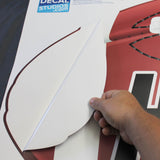 Peel and stick your football wall sticker to any smooth wall surface.