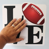 installation of football love wall sticker