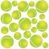 Multiple Tennis Ball Wall Stickers. Quantity of 22