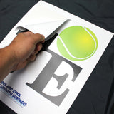 Just peel and stick your love tennis wall graphic to any smooth surface.