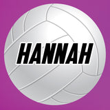 "Large Volleyball Wall Sticker, Custom Name, 28""h x 28""w, 0583"