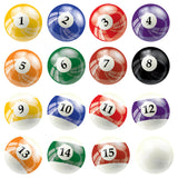 "Pool ball wall stickers. 6"" inch wall prints. Just peel and stick to any smooth surface."