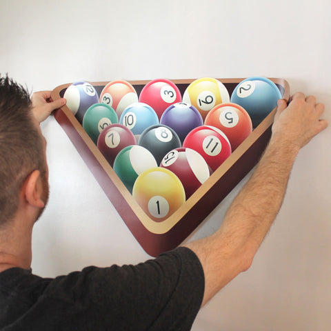 "Racked Pool Ball Wall Sticker, 18""h x 27""w"