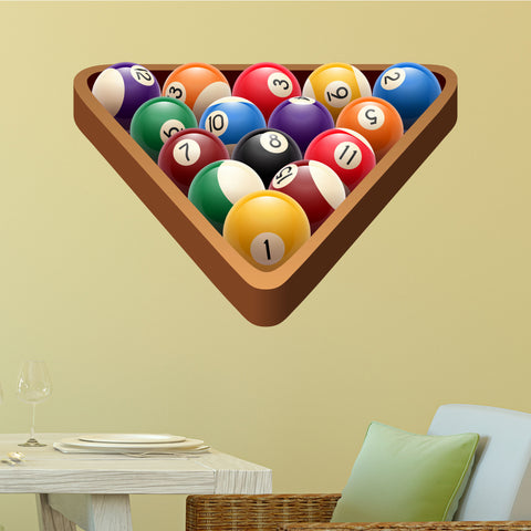 "Racked Pool Ball Wall Graphic, 27""h x 40""w"
