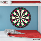 "28""h x 28""w dart board wall sticker print."