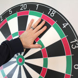 "Installation of 28""h x  28""w dartboard wall cling"