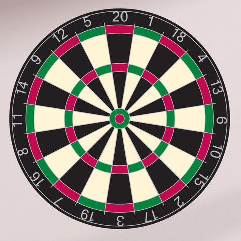 "Dartboard wall graphic, 28""h x 28""w"