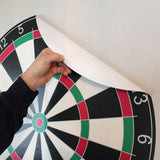 This dartboard wall sticker is removable and reusable. Just peel and stick to any smooth surface.