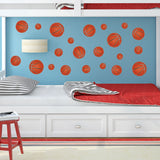 Basketball wall clings, 22 wall stickers.