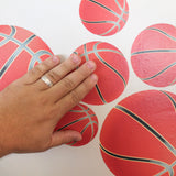 installation of basketball wall stickers.