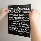 The doctor of the future wall sticker - thomas edison wall graphic