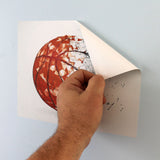 peel and stick removable basketball wall art