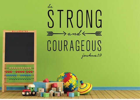 Be strong and courageous. - 0161 - Home Decor - Wall Decor - Joshua - Bible - Quote
