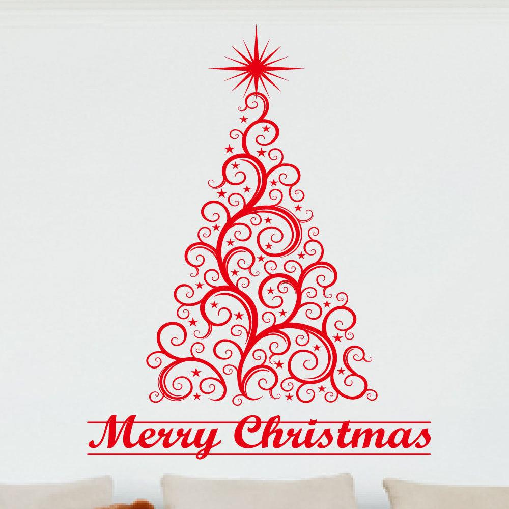decal product wall merry red christmas decals amandas decor