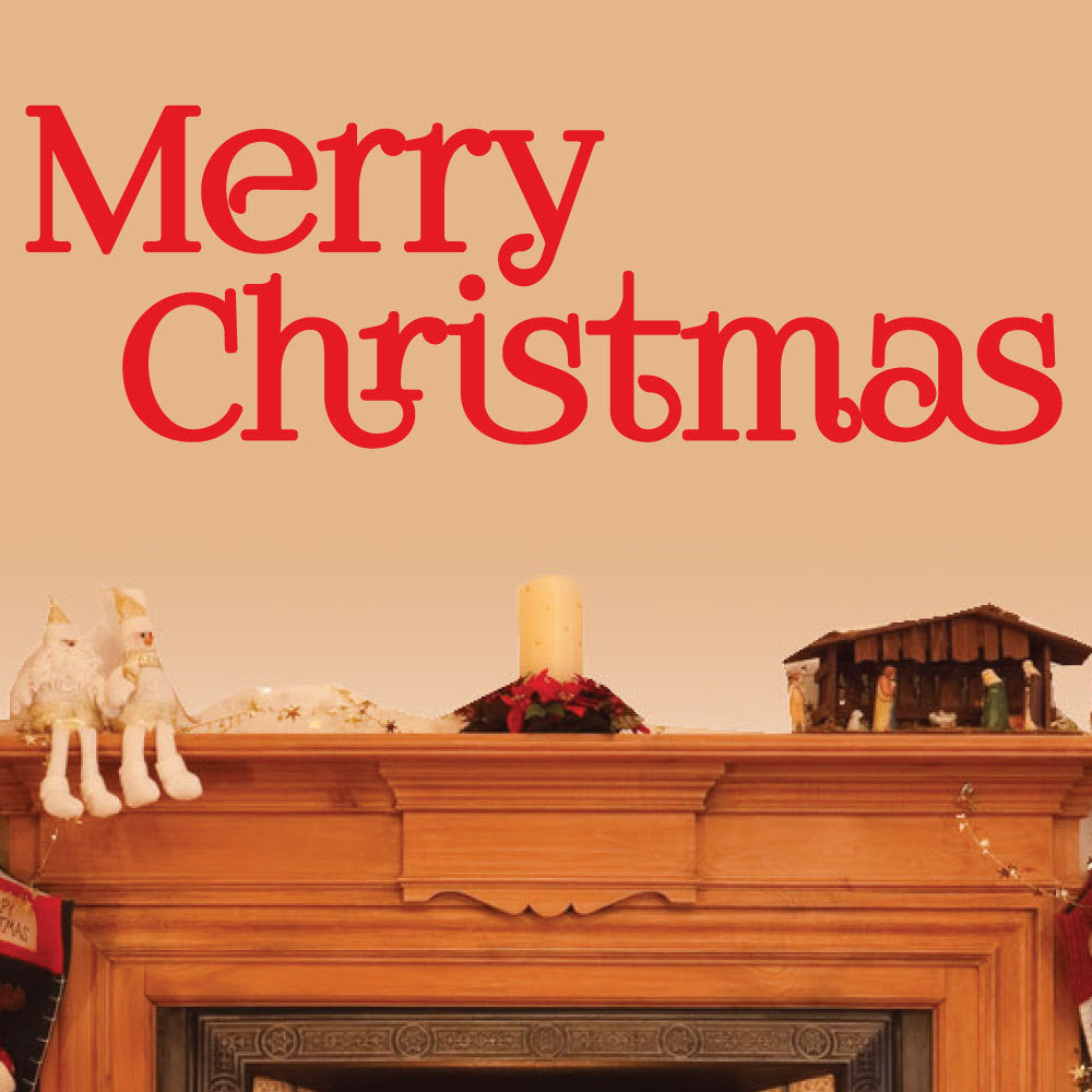 Christmas Decor Wall Decal - 0020 Merry Christmas Decor - Merry ...