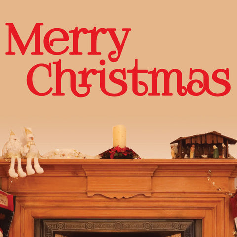 Christmas Decor Wall Decal - 0020 Merry Christmas Decor - Merry Christmas Wall Decor - Christmas