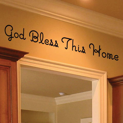 God Bless This Home Wall Lettering, 0035 - Wall Decals, God Bless, Wall Decal